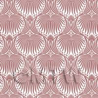Dolls House Miniature - Dolls House Miniature Pale Red Clam Shell Wallpaper