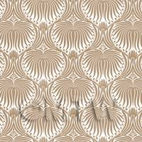 Dolls House Miniature Pale Brown Clam Shell Wallpaper