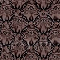Dolls House Miniature Chocolate Clam Shell Wallpaper