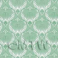 Dolls House Miniature Pale Green Clam Shell Wallpaper
