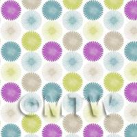 Dolls House Miniature Mixed Colour Daisies Wallpaper