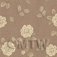 Pack of 5 Dolls House Cream Climbing Rose Wallpaper Sheets