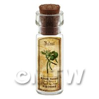 Dolls House Apothecary Walnut Herb Short Colour Label And Bottle