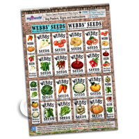 Dolls House Miniature - Dolls House Webbs Vegetable Posters Collection - A4 Value Sheet