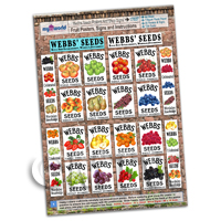 Dolls House Miniature - Dolls House Webbs Fruit Posters Collection - A4 Value Sheet