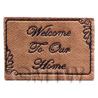 Dolls House Miniature Welcome To Our Home Mat (NW4)