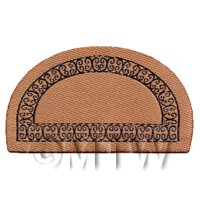 Dolls House Miniature 63mm Half Moon Greek Style Welcome Mat (NW9)