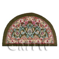 Dolls House Miniature Half Moon Floral Style Welcome Mat (NW14)