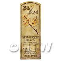 Dolls House Herbalist/Apothecary Witch Hazel Herb Long Colour Label