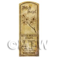 Dolls House Herbalist/Apothecary Witch Hazel Plant Herb Long Sepia Label