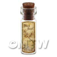 Dolls House Apothecary Witch Hazel Herb Short Sepia Label And Bottle