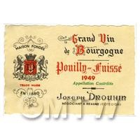 Miniature French  White Wine Label (1949 Vintage)