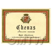 Miniature French Chenas White Wine Label