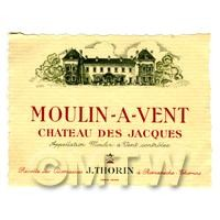 Miniature French Moulin a Vent  Red Wine Label