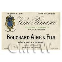 Miniature French Bouchard Aine Fils White Wine Label