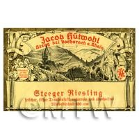Miniature German Steeger Riesling White Wine Label