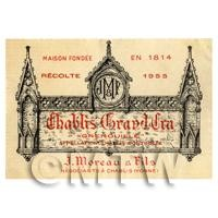 Miniature French White Wine Label (1955 Vintage)