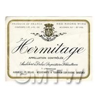 Miniature French Hermitage White Wine Label