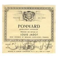 Miniature French Pommard Red Wine Label