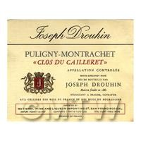 Miniature French Puligny Montrachet White Wine Label