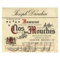 Miniature French Beaune Nos Des Mouches  Red Wine Label