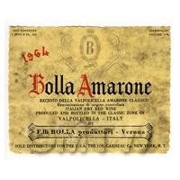 Miniature Italian Bolla Amarone Red Wine Label (1964 Vintage)