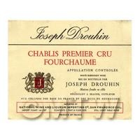 Miniature French Chablis Premier Cru Fourchaume White Wine Label