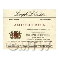 Miniature French Aloxe Corton Red Wine Label