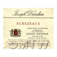 Miniature French Echezeaux Red Wine Label
