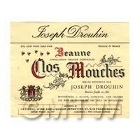 Miniature French Beaune Clos Des Mouches White Wine Label