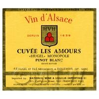 Miniature French Cuvee Les Amours  White Wine Label
