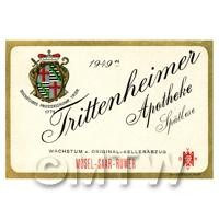 Miniature German Frittenheimer Red Wine Label (1949 Vintage)