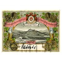 Miniature German Schloss Johannisberger White Wine Label (1950 Vintage)