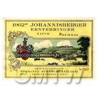 Miniature German Johannisberger Erntebringer White Wine Label (1962 Vintage)
