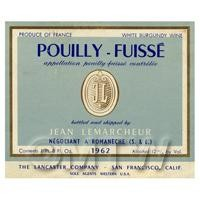 Miniature French Jean Le Marcheur White Wine Label (1962 Vintage)
