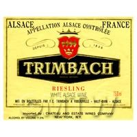 Miniature French  Trimbach White Wine Label