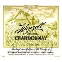 1/12th scale - Miniature USA Hangell Chardonnay White Wine Label (1957 Vintage)