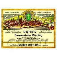 Miniature German Berkenstelar Riesling  White Wine Label