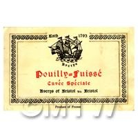 Miniature French Pouilly Fuisse Red Wine Label