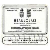 Miniature French Beaujolais Red Wine Label