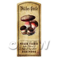 Dolls House Miniature Apothecary Witches Circle Fungi Colour Label