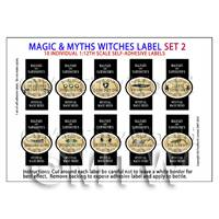Dolls House Miniature Myth And Magic Label Set 2