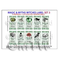 Dolls House Miniature Myth And Magic Label Set 3