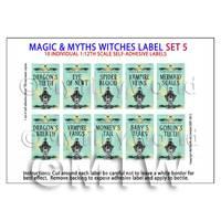 Dolls House Miniature Myth And Magic Label Set 5