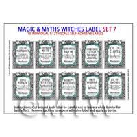 Dolls House Miniature Myth And Magic Label Set 7
