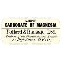 Carbonate Of Magnesia Miniature Apothecary Label