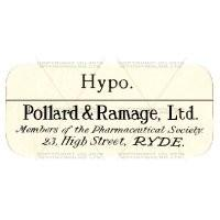 Hypo Dolls House Miniature Apothecary Label