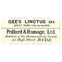 Gees Linctus B.P.C. Miniature Apothecary Label