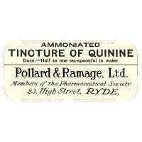 Tincture Of Quinine Miniature Apothecary Label