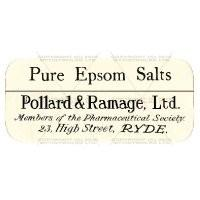 Pure Epsom Salts Miniature Apothecary Label